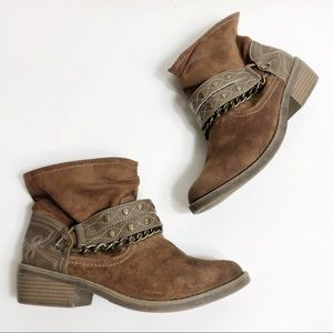 Candies Boho Western Ankle Boots